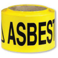 Barrier Tape - Black and Yellow - Caution Asbestos Dust Hazard