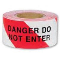 Barrier Tape - Red and White - Danger Do Not Enter