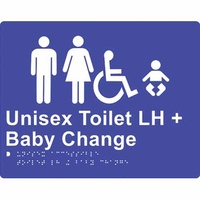 Unisex Accessible Toilet and Baby Change (Left Hand)
