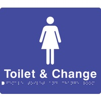 240x180mm - Braille - Poly - Female Change Rooms/Toilet