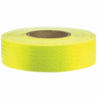 50mm x 45.7mtr - Class 1 3M Reflective Tape - Lime Green