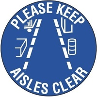 Please Keep Aisles Clear