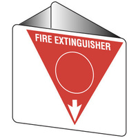Off Wall - Fire Extinguisher Marker - Water (Red)