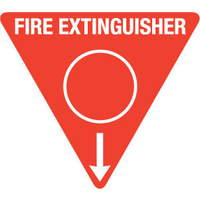 Triangle Fire Extinguisher Marker - Water (Red)
