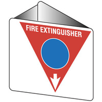 FRL02OWP -- 225x225mm - Poly - Off Wall - Fire Extinguisher Marker - Foam (Blue)