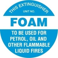 Disc - Fire Extinguisher Marker - Foam (Blue)