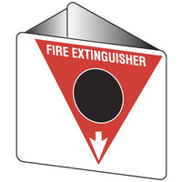 Off Wall - Fire Extinguisher Marker - CO2 (Black)