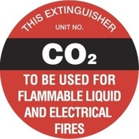 Fire Extinguisher Marker - CO2 (Black)