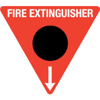 Triangle Fire Extinguisher Marker - CO2 (Black)