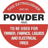 Fire Extinguisher Marker - Powder AB(E) (White)