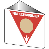 Off Wall - Fire Extinguisher Marker - Wet Chemical (Gold)