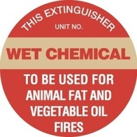 Disc - Fire Extinguisher Marker - Wet Chemical (Gold)