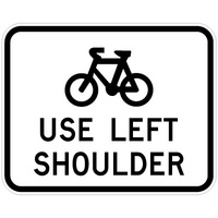 Bicycles Use Left Sholder