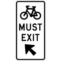 Bicycles Must Exit