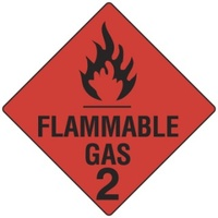 270x270mm - Magnetic - Flammable Gas 2