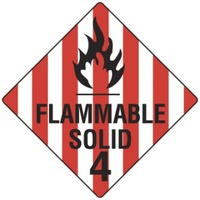 270x270mm - Magnetic - Flammable Solid 4