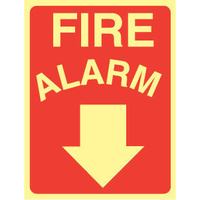 Fire Alarm (Arrow Down) - Luminous