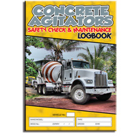 Concrete Agitators log book A4