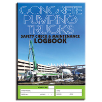 Concrete Pumping log book A4