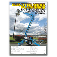 Elevated Work Platforms log book A5