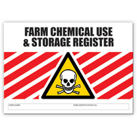 Farm Chemical Register log book A4