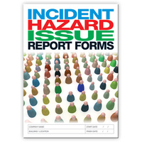 Hazard / Incident Reports Log book A4