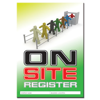 Onsite Register log book A4