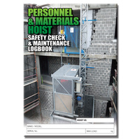 Personnel & Material Hoist log book A5