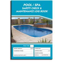 Pool / Spa log book A4