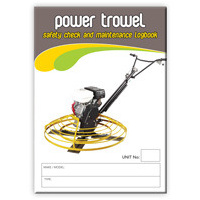 Power Trowel log book A5