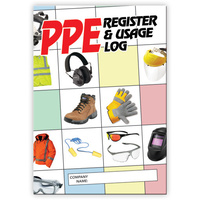PPE Register log book A5