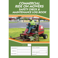 Ride on Mowers log book A5