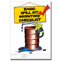 Spill Kit Checklist log book A5