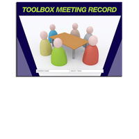 Toolbox Meeting Log Book A4