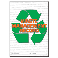 Waste Management log book A4