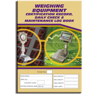 Weighing Equipment log book A4