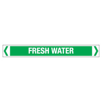 30x380mm - Self Adhesive Pipe Markers - Pkt of 10 - Fresh Water