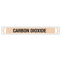 30x380mm - Self Adhesive Pipe Markers - Pkt of 10 - Carbon Dioxide