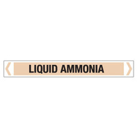 30x380mm - Self Adhesive Pipe Markers - Pkt of 10 - Liquid Ammonia
