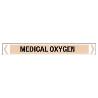 30x380mm - Self Adhesive Pipe Markers - Pkt of 10 - Medical Oxygen