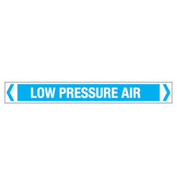 30x380mm - Self Adhesive Pipe Markers - Pkt of 10 - Low Pressure Air
