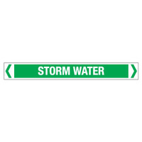30x380mm - Self Adhesive Pipe Markers - Pkt of 10 - Storm Water