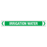 30x380mm - Self Adhesive Pipe Markers - Pkt of 10 - Irrigation Water