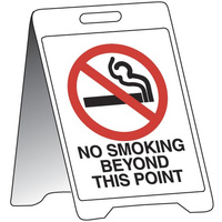 500x300mm - Fluted Board Sign Stands - No Smoking Beyond This Point