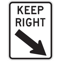 Keep Right (with arrow)