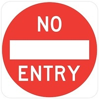 No Entry and symbol