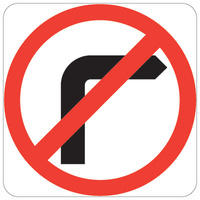No Right Turn Symbol in Roundel