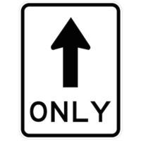 One Way Traffic (Arrow Symbol) Only