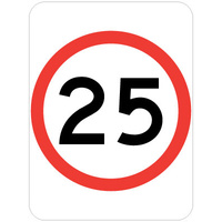 25 Speed Restriction
