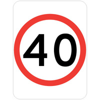40 Speed Restriction